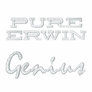 Pure Erwin Genius Embroidered Embroidered Polo Shirts
