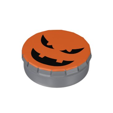 Halloween Themed Pure evil snarl pumpkin head Halloween party Jelly Belly Candy Tin