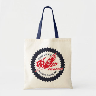 Pure Firebird Racing Gasoline vintage sign Canvas Bags