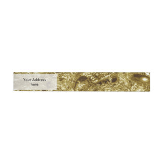 PURE GOLD Abstract Pattern + your text / photo Wraparound Address Label
