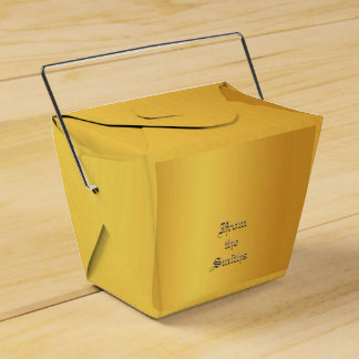 Pure gold customizable favor box