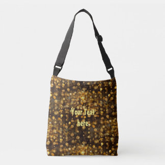 PURE GOLD Diamonds Pattern + your text / photo Tote Bag