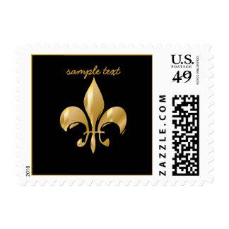 Pure Gold Fleur de Lis Postage