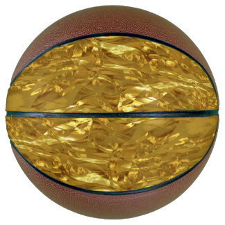 PURE GOLD FOIL Pattern + your text / photo Basketball