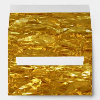 PURE GOLD FOIL Pattern + your text / photo Envelope
