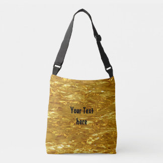 PURE GOLD FOIL Pattern + your text / photo Tote Bag