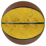PURE GOLD LEAF Pattern   your text / photo Basketball