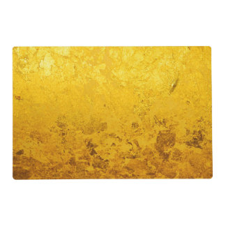 PURE GOLD LEAF Pattern + your text / photo Laminated Place Mat