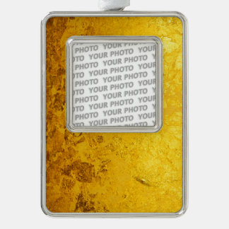 PURE GOLD LEAF Pattern + your text / photo Ornament