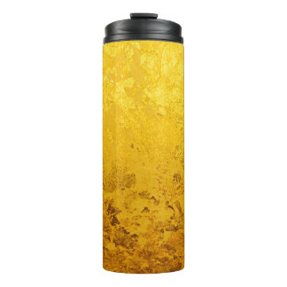 PURE GOLD LEAF Pattern + your text / photo Thermal Tumbler
