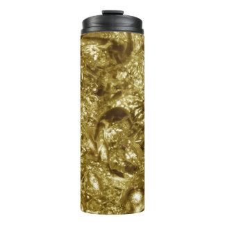 PURE GOLD moonscape Pattern + your text / photo Thermal Tumbler