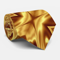 Pure gold neck tie
