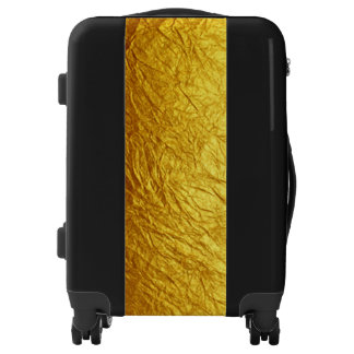 PURE GOLD PAPER FOIL Pattern + your text / ideas Luggage