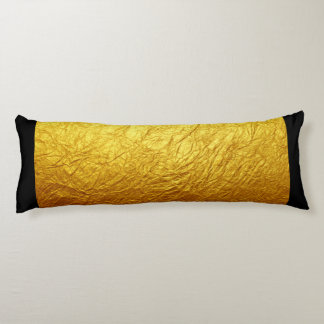 PURE GOLD PAPER Pattern + your text / photo Body Pillow