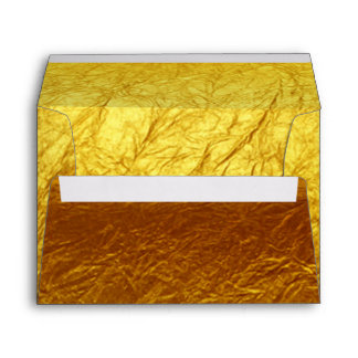 PURE GOLD PAPER Pattern + your text / photo Envelope
