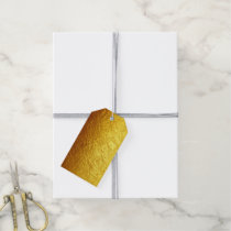 PURE GOLD PAPER Pattern   your text / photo Gift Tags