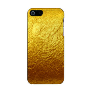 PURE GOLD PAPER Pattern + your text / photo Metallic iPhone SE/5/5s Case
