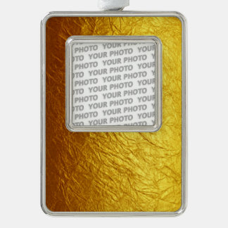 PURE GOLD PAPER Pattern + your text / photo Ornament