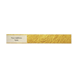 PURE GOLD PAPER Pattern + your text / photo Wrap Around Address Label