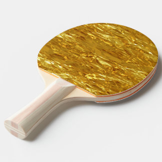 PURE GOLD pattern / gold foil Ping Pong Paddle