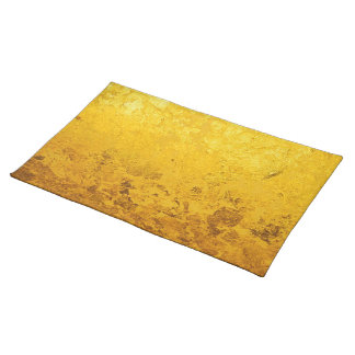 PURE GOLD pattern / gold leaf Cloth Placemat