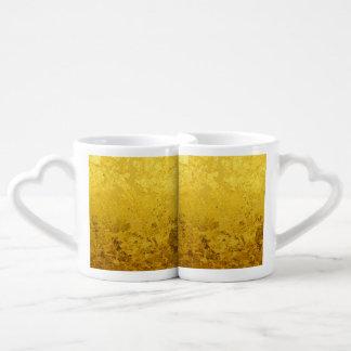 PURE GOLD pattern / gold leaf Coffee Mug Set