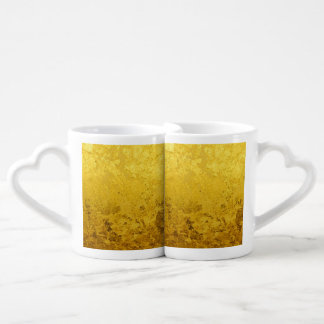 PURE GOLD pattern / gold leaf Couples Coffee Mug
