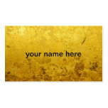 PURE GOLD pattern / gold leaf Double-Sided Standard Business Cards (Pack Of 100)