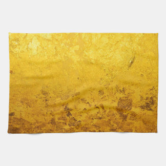 PURE GOLD pattern / gold leaf Kitchen Towel