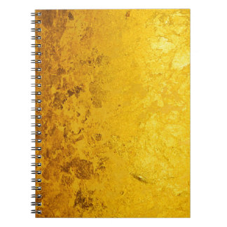 PURE GOLD pattern / gold leaf Notebook