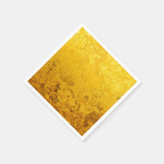 PURE GOLD pattern / gold leaf Standard Cocktail Napkin
