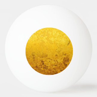 PURE GOLD pattern / gold leaf Ping Pong Ball