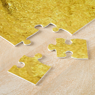 PURE GOLD pattern / gold leaf Jigsaw Puzzle