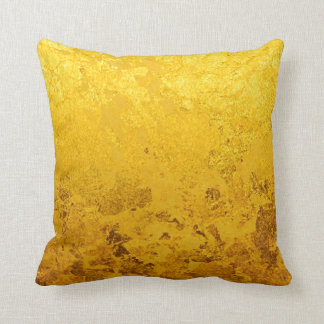 PURE GOLD pattern / gold leaf Throw Pillow