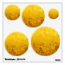 PURE GOLD pattern / gold leaf Wall Sticker
