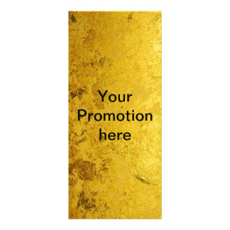 PURE GOLD pattern / gold leaf + your text Rack Card