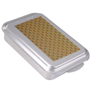 PURE GOLD pattern / golden pearls Cake Pan