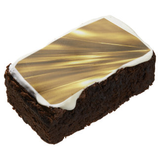 PURE GOLD pattern / shine + your photo & text Chocolate Brownie