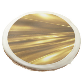 PURE GOLD pattern / shine + your photo & text Sugar Cookie