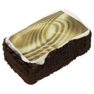 PURE GOLD pattern / waves soft + your photo & text Chocolate Brownie
