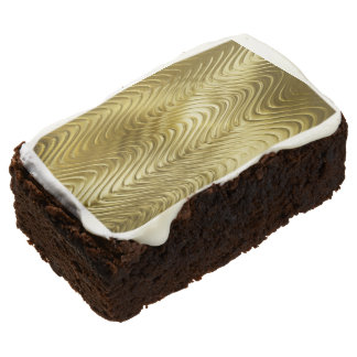 PURE GOLD pattern / waves + your photo & text Chocolate Brownie