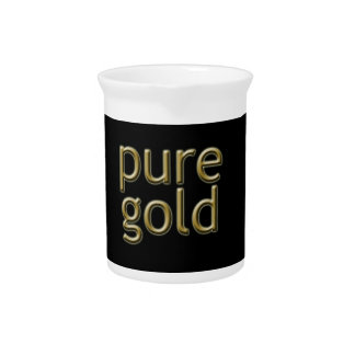"""""""Pure Gold"""" Saying Beverage Pitchers"""