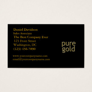 """""""Pure Gold"""" Saying Business Card"""