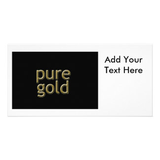 """""""Pure Gold"""" Saying Card"""