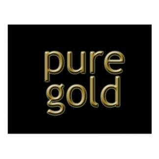 """Pure Gold"" Saying Postcard"