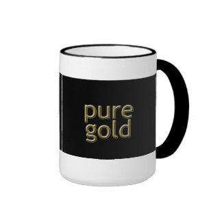 """Pure Gold"" Saying Ringer Mug"