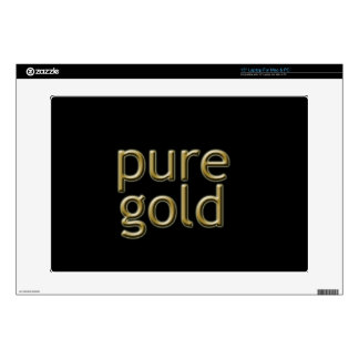 """""""Pure Gold"""" Saying Skin For Laptop"""