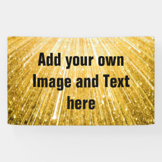 PURE GOLD Shower Pattern + your text / photo Banner