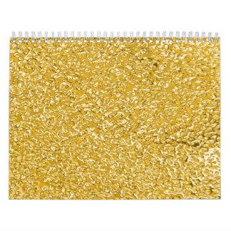 PURE GOLD Splatter Pattern Custom Printed Calendar Wall Calendar