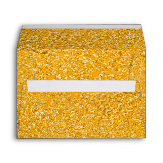PURE GOLD Splatter Pattern + your text / photo Envelope